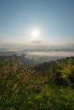 Morze mgła obrazy royalty free
