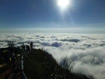 Morze mgła przy Pu zakładką Buek Zdjęcie Stock
