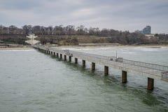 Morze mosta plaży widok 1 Obraz Stock