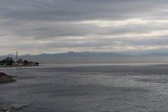 Morze na chmurnym dniu fotografia royalty free