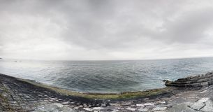 Morze Napastuje Laoghaire Dublin Fotografia Royalty Free