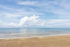 Morze niebo i piękne plaże obraz royalty free