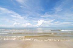 Morze niebo i piękne plaże fotografia royalty free