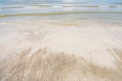 Morze niebo i piękne plaże fotografia stock