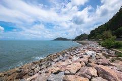 Morze obok Burapa Chollathit drogi Obrazy Royalty Free