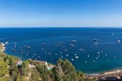 Morze od Taormina Fotografia Royalty Free