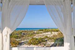 morze okno Fotografia Royalty Free