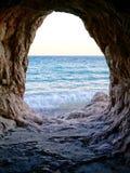 morze okno Zdjęcia Royalty Free
