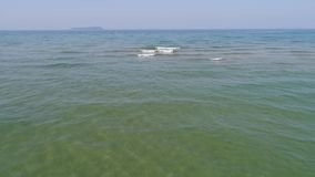 Morze płycizny krajobraz z fala zbiory