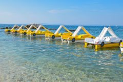 Morze peddle łodzie Fotografia Stock