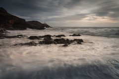 Morze piana na bransoletki zatoce Zdjęcia Stock