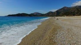 Morze piana na plaży fotografia royalty free