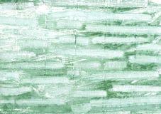 Morze piany zieleni akwareli abstrakcjonistyczny tło Zdjęcia Royalty Free