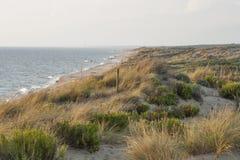 Morze piaska diun plażowy krajobraz Obrazy Royalty Free