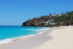 Morze plaża, Świątobliwa Tumakowa wyspa Zdjęcie Royalty Free