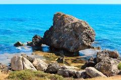 Morze plaża blisko Rocca Di San Nicola, Agrigento, Sicily, Włochy Obrazy Royalty Free