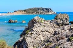 Morze plażowy Cala Paradiso, Agrigento, Sicily, Włochy Fotografia Royalty Free