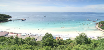 Morze plaża na Koh Larn, Pattaya miasto w Tajlandia Fotografia Stock