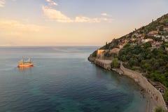 Morze plaża w Alanya, Turcja Obraz Royalty Free