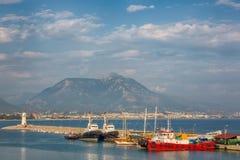 Morze plaża w Alanya, Turcja Zdjęcia Stock