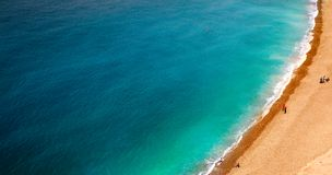 Morze plaży ludzie Zdjęcia Royalty Free