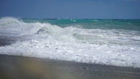 Morze powierzchnia strzelał z statyczny krzywka, piękne fala, bezszwowa pętla, wysoka definicja zbiory
