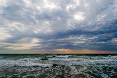 Morze przed burzą fotografia stock
