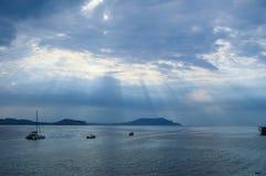Morze przed burzą Zdjęcia Stock