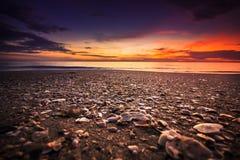 Morze przed wschód słońca Zdjęcia Stock