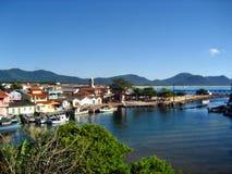 Morze przegląda Florianopolis Fotografia Royalty Free