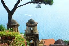 Morze przy Amalfi wybrzeżem Fotografia Royalty Free