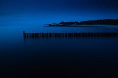 Morze przy nocą Obrazy Royalty Free