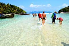 Morze przy Thailand ja piękny Fotografia Royalty Free