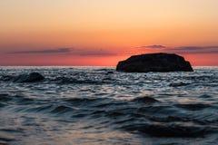 Morze Przy zmierzchem Obrazy Royalty Free