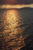 Morze przy zmierzchu czas zdjęcie royalty free