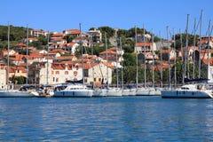 morze śródziemnomorskie jachty Obraz Royalty Free