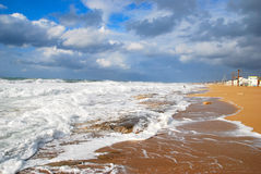 morze śródziemnomorskie zima Obrazy Stock