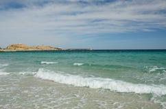 Morze Śródziemnomorskie blisko Korsykańskiego wybrzeża Obraz Stock