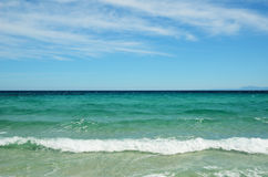 Morze Śródziemnomorskie blisko Korsykańskiego wybrzeża Fotografia Royalty Free