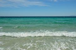 Morze Śródziemnomorskie blisko Korsykańskiego wybrzeża Zdjęcie Royalty Free