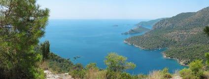 Morze Śródziemnomorskie indyk linia brzegowa krajobraz Fotografia Royalty Free