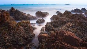 Morze skały kanał Zdjęcie Royalty Free