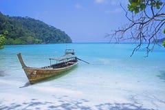Morze statku surin plażowa łódkowata wyspa Thailand Fotografia Royalty Free