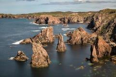 Morze sterty na Zewnętrznym Hebrides zdjęcia royalty free