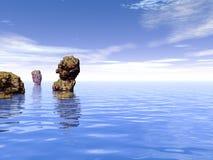 morze stones2 Zdjęcie Royalty Free