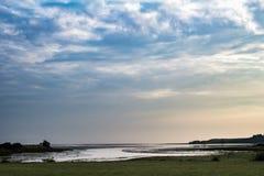 Morze ucieczka w słońce secie zdjęcie royalty free