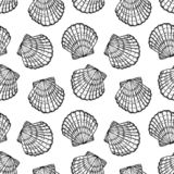 Morze łuska bezszwowego wektoru wzór fotografia stock