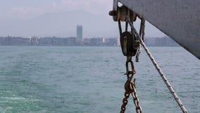 Morze wśrodku Ferryboat i miasto zdjęcie wideo