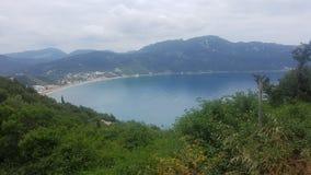 Morze w Corfu wyspie Zdjęcie Stock