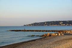 Morze w menton w południowym France zdjęcie royalty free